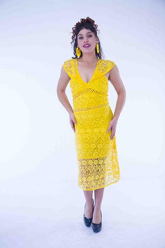 Lace up Long Dress