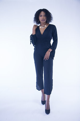 Back Tie-up Jumpsuit