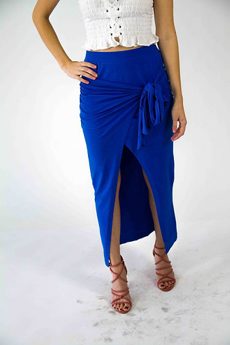 Solid Front Open Skirt