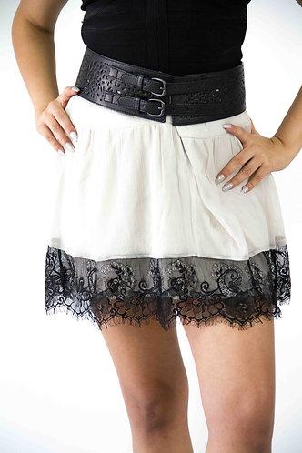 Mesh Trim Mini Skirt