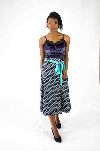 A-Line Printed Long Skirt