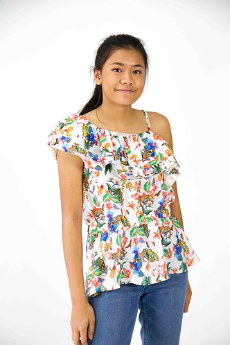 Cinched Ruffled Top