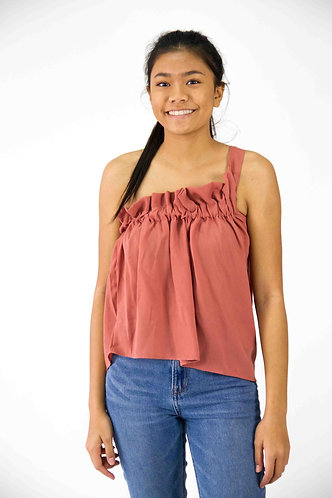 One Shoulder Elastic Top