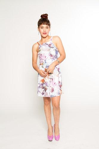 Trendy Purple Fit & Flare Dress