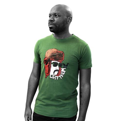 """T-shirt vert - """"Moustache"""""""