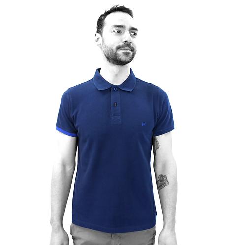 Polo - Bleu marine/Bleu clair
