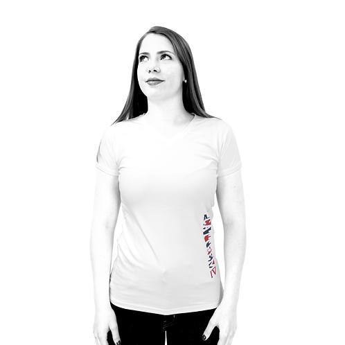 "T-shirt blanc - ""Straight"""