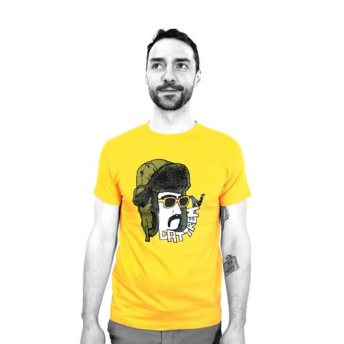 """T-shirt jaune - """"Moustache"""""""