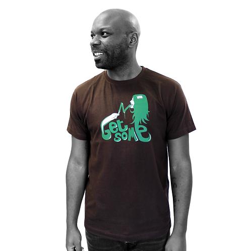 """T-shirt brun - """"Get some"""""""