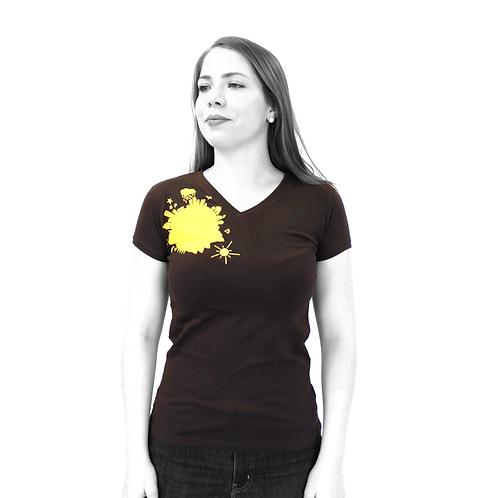 "T-shirt brun - ""ATW"""