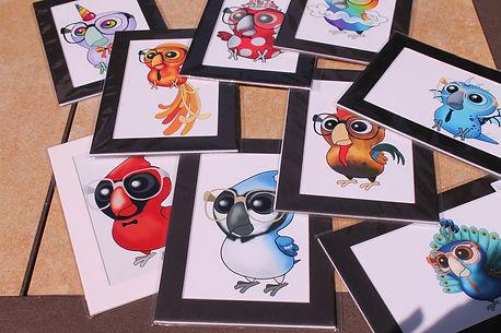 Nerdy Birdy Print examples