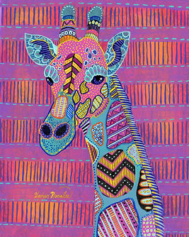Psychedelic Giraffe Painting