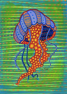 Pyschedelic Jellyfish