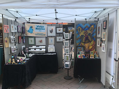 One of Vivian Rosalee's outdoor booth set up