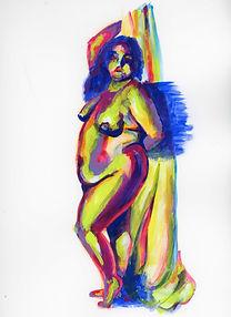 Figure 3F: Woman Standing (gouache)