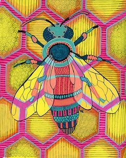 Psychedelic Honeybee