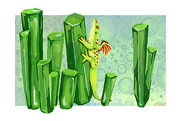 May - Giant Day Gecko - Emerald