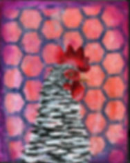 Barred Rock Acrylic Painting
