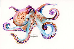 Octopus Ink Painting