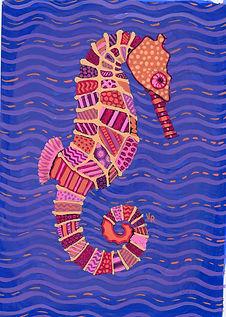 Pyschedelic Seahorse