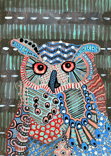 Pyschedelic Owl