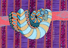 Psychedelic Snake Painting