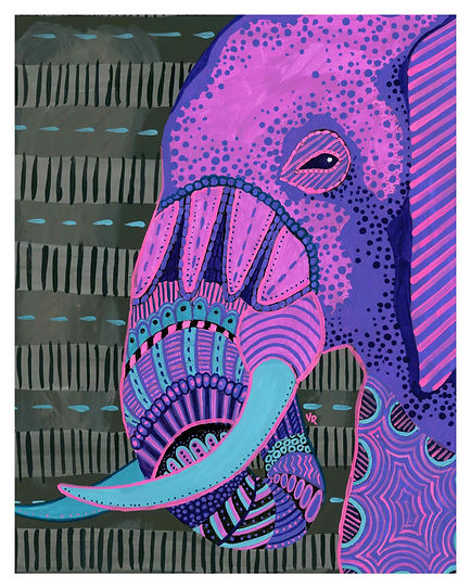 Pyschedelic Elephant