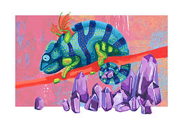February - Panther Chameleon - Amethyst