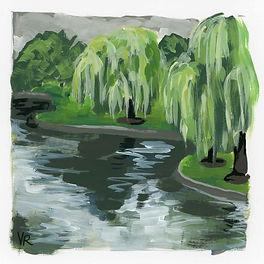 Willow Trees at the Boston Garden