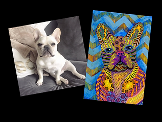 Psychedelic Pet Portrait Example