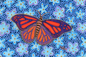 Psychedelic Butterfly Painting