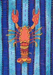 Psychedelic Lobster Painting
