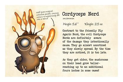 Original Character: Nerdy Birdy Cordyceps (Back)