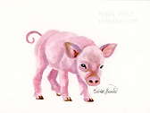 Pig Ink Painting