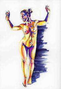 Figure 3A: Woman Standing (gouache)