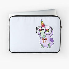 Unique laptop cases- unicorn Nerdy Birdy