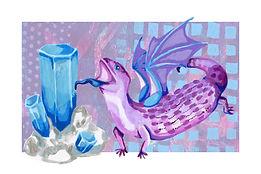 March - Blue Tongued Skink - Aquamarine