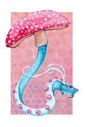 Fly Agaric Mushroom Dragon (Blue Snake)