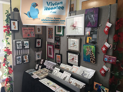 One of Vivian Rosalee's indoor booth set up