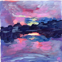 Sunset Reflection at the Lake