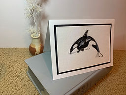 Orca ink painting