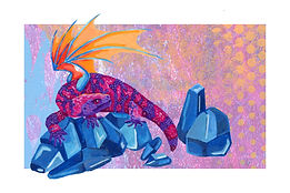 September - Gila Monster - Sapphire