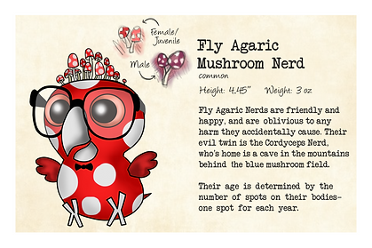 Original Character: Nerdy Birdy Fly Agaric (Back)
