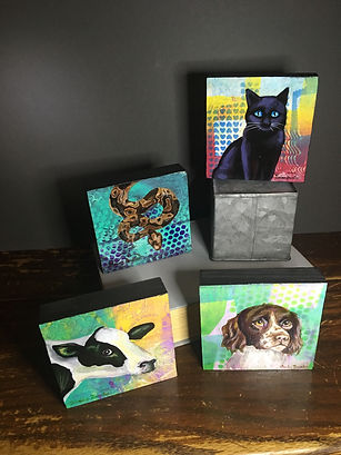 Variety of acrylic portraits