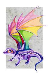 Rainbow Dragon (Red-Eyed Crocodile Skink)