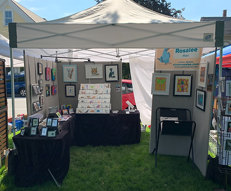 My booth at a 2021 festival