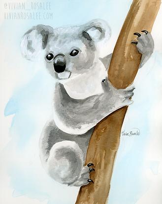 Koala Ink Painting