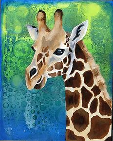 Giraffe acrylic painting