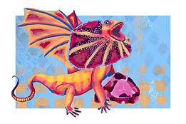 January - Frilled Lizard - Garnet