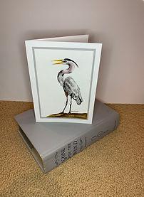 Great Blue Heron original ink painting